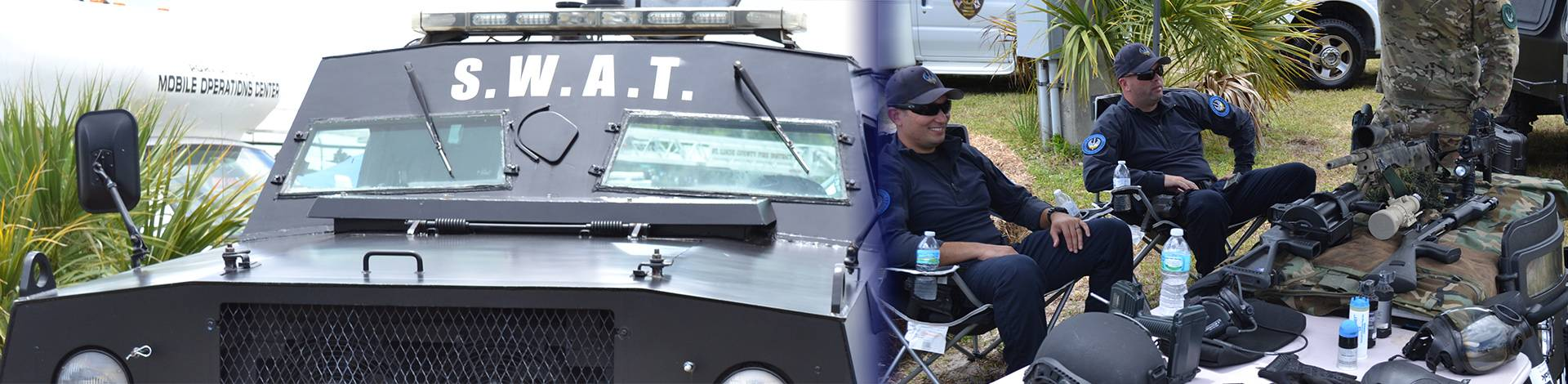 Swat team and weapons