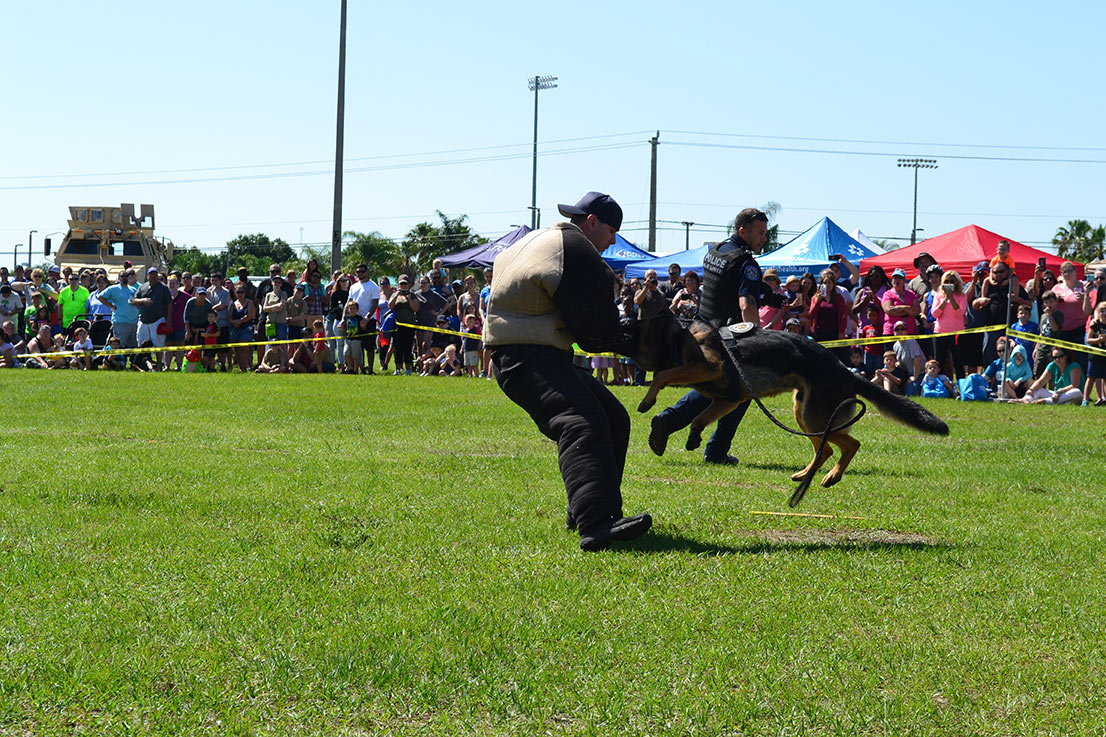 St. Lucie County Safety Festival K9 Demo